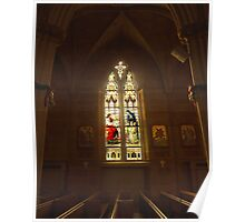 Stained Glass, St. John's Cathedral, Columbus OH Poster