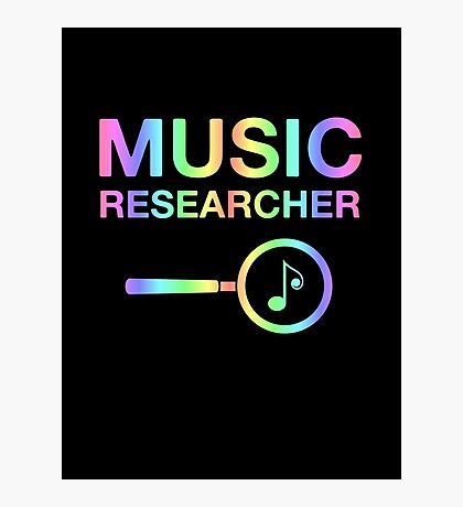 Music Researcher Photographic Print