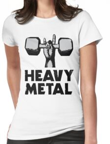 Heavy Metal Lifting Womens Fitted T-Shirt
