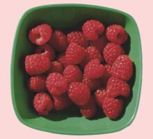 Raspberries in Green Bowl  by jojobob
