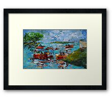 Boating Lake Framed Print