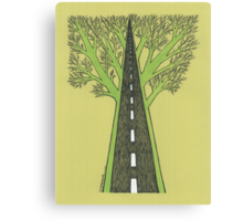 Road and Forest Canvas Print