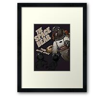 THE SPACE BEAR; from outer-space Framed Print