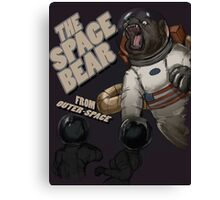 THE SPACE BEAR; from outer-space Canvas Print