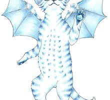 Batty Blue Kitty by athalour