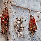 Dried Chillis and Garlic  by jojobob
