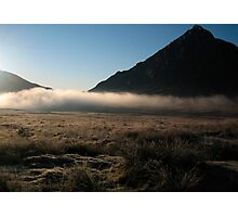 Mist in Scottish Highlands Photographic Print