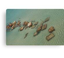 Concrete Blocks in Sea  Canvas Print