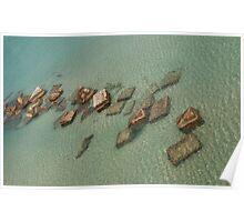 Concrete Blocks in Sea  Poster