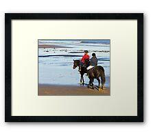 Follow Me  - Saltburn Beach Framed Print