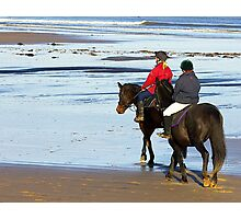 Follow Me  - Saltburn Beach Photographic Print
