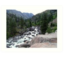 Wenatchee River Art Print