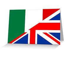 uk italy flag Greeting Card