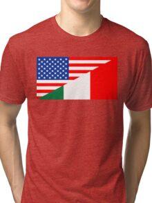 usa italy Tri-blend T-Shirt