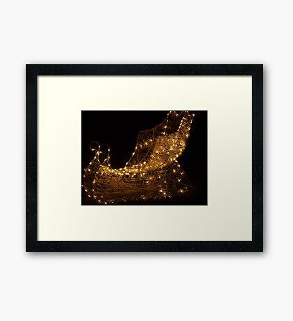 Golden Sleigh Framed Print