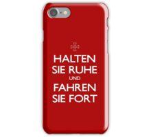 KEEP CALM IN GERMAN iPhone Case/Skin