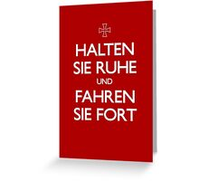 KEEP CALM IN GERMAN Greeting Card