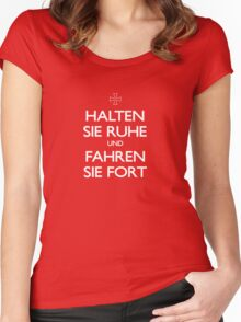 KEEP CALM IN GERMAN Women's Fitted Scoop T-Shirt