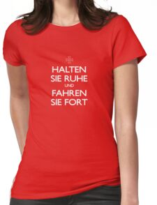 KEEP CALM IN GERMAN Womens Fitted T-Shirt