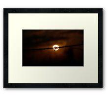 Barbed Sun Framed Print