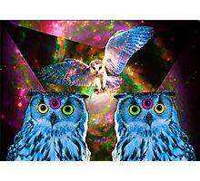 Space Owl Photographic Print