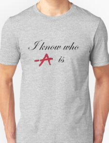 i know who A is black Unisex T-Shirt