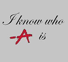 i know who A is black by Trinken