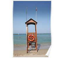 Life Guard Station  Poster