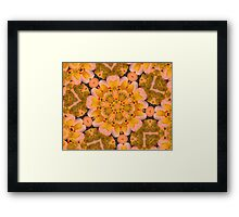 Yellow Rubber Ducky Kaleidoscope Framed Print