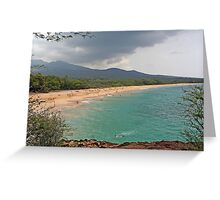 Big Makena Beach, Maui, Hawaii Greeting Card