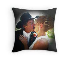 Cowboy Kisses Throw Pillow