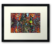 ABSTRACT COLORED WEB Framed Print