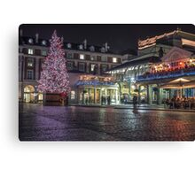 christmas in covent garden Canvas Print