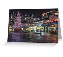 christmas in covent garden Greeting Card
