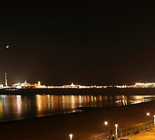 Brighton's main attraction by moonlight by hillphotography