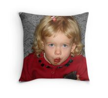 Little Miss Mess Throw Pillow