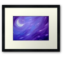Night Sky II: Crescent Moon Framed Print