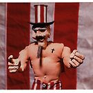 Uncle Sam Jr. gallery invite, 1999 by Sam Dantone