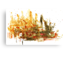 Watercolor abstract composition Canvas Print