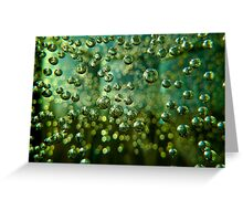 Green bubbles Greeting Card