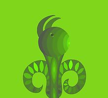Whimsical Green Creature with Ears by keem