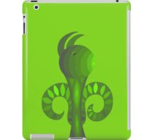 Whimsical Green Creature with Ears iPad Case/Skin