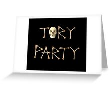 Anti Tory Party Logo Greeting Card