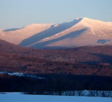 Sunset, Mount Mansfield, Minus 10 Degrees by Stephen Beattie