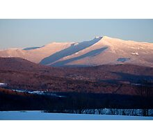 Sunset, Mount Mansfield, Minus 10 Degrees Photographic Print