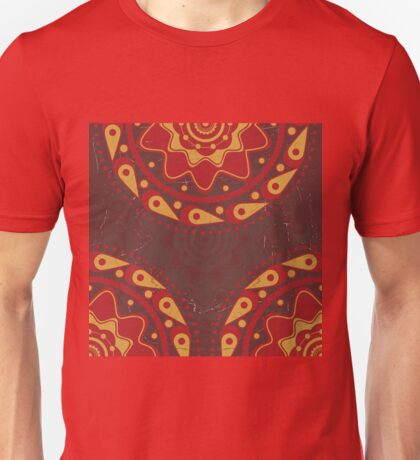 Red and yellow ornament 2 Unisex T-Shirt
