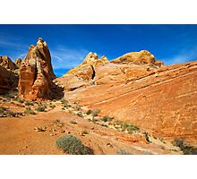 Brilliant Rock and Blue Sky Photographic Print