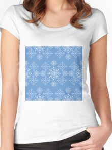 Snowflakes ornament Women's Fitted Scoop T-Shirt