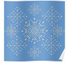 Snowflakes ornament 2 Poster