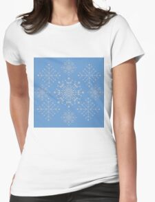 Snowflakes ornament 2 Womens Fitted T-Shirt
